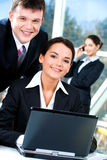 Two business people Royalty Free Stock Photo