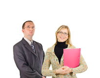 Two business people Royalty Free Stock Image