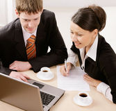 Two business people Royalty Free Stock Photos