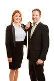 Two business people as a team Stock Photo