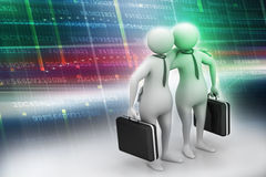 Two business people with briefcase Royalty Free Stock Photos