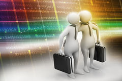 Two business people with briefcase Royalty Free Stock Photo