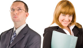 Two business people close-up Stock Images