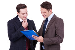 Two business people discussing Stock Images