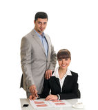 Two business people Stock Images