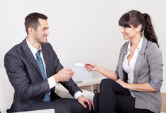 Two business people at the meeting Stock Photo