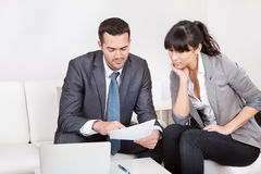 Two business people at the meeting Royalty Free Stock Image