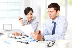 Two business people at the meeting Stock Photos