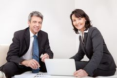 Two business people at the meeting Stock Images