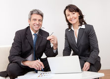 Two business people at the meeting Royalty Free Stock Photography