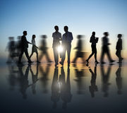 Two Business people in motion Royalty Free Stock Photos