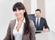 Two business people in the office Royalty Free Stock Photography