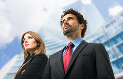 Two business people portrait outdoor Stock Photography
