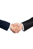 Two business people shaking hands Stock Images