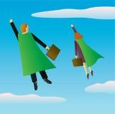 Superhero Business People Stock Images