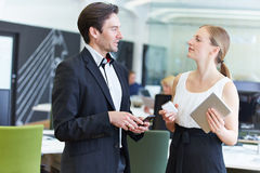 Two business people talking Stock Photography