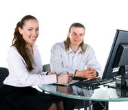 Two business people in team Stock Photography