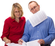 Two business people working Stock Photography