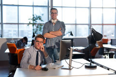 Two Business People Working With computer in office Royalty Free Stock Photography