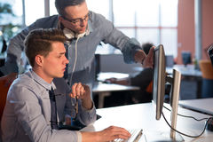 Two Business People Working With computer in office Stock Photography