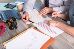 Two business people working together Royalty Free Stock Image