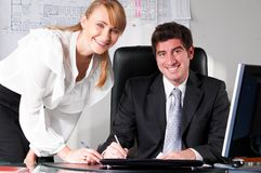 Two business persons Royalty Free Stock Image