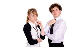 Two business persons Stock Photos