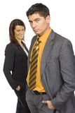 Two business persons stock photography