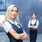 Two business persons in formal clothes Stock Photography