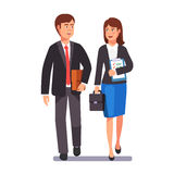 Two business professionals man and woman Stock Image