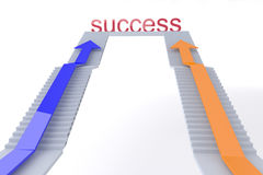 Two business up the top of a staircase of success Royalty Free Stock Images