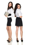 Two business woman. Two young beautiful business woman Royalty Free Stock Images