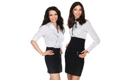 Two business woman. Two young beautiful business woman Stock Photography