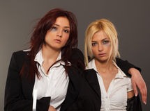 Two business woman after fight royalty free stock photography