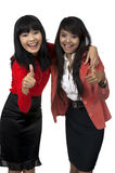 Two Business Woman Give Thumb Up Royalty Free Stock Images