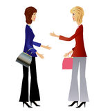 Two  business woman speak Royalty Free Stock Photos