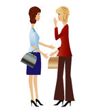 Two  business woman speak Royalty Free Stock Photography