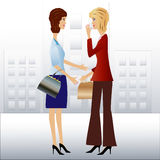 Two  business woman speak Stock Photo