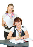 Two business women Stock Image