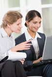 Two business women Royalty Free Stock Photos