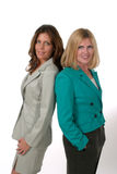 Two Business Women Back to Back 4 Royalty Free Stock Photo