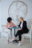 Two business women have a meeting Stock Photography