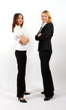 Two Business Women Standing royalty free stock photography