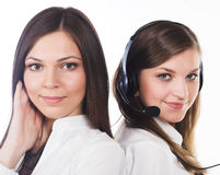 Two business women Stock Images