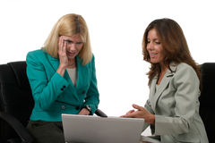 Two Business Women Working On Laptop 3 Stock Photography