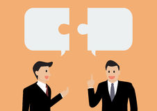 Two businessman in conversation Royalty Free Stock Photo