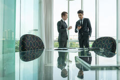 Two businessman dicussing business in office Royalty Free Stock Image