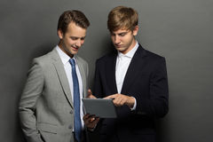 Two businessman discussing their new project Royalty Free Stock Photo
