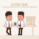 Two Businessman are drinking coffee Royalty Free Stock Image