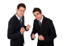 Two businessman enjoying succes Stock Images